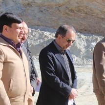 بازدید مدیر عامل شرکت تهیه و تولید مواد معدنی ایران از مجتمع طلای موته